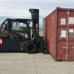 Carer Electric Forklift Customized for the Military
