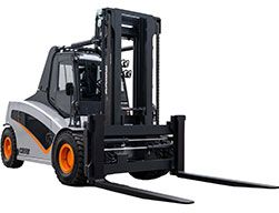 The front view of the Carer A 160-200 X electric forklift