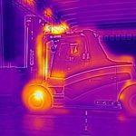 A thermal test of a Carer Forklift