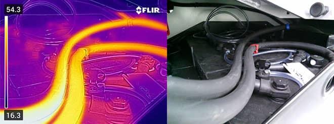Thermal image of Carer forklift hoses